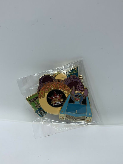 Stitch's Action Adventure WDW Rock N' Roller Coaster LE 1500 Pin