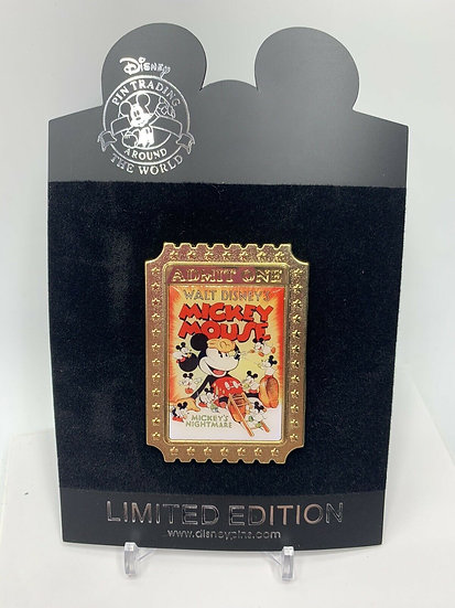 Mickey Mouse Nostalgia Tickets Mickey's Nightmare LE 350 PinShopping Store