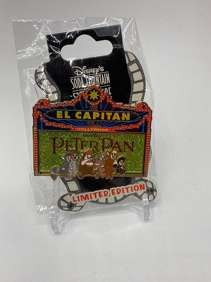 Peter Pan Lost Boys El Capitan Theatre LE 300 Marquee Pin DSF DSSH