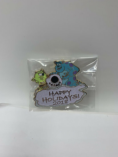 Mike Wazowski & Sulley WDW DLR Happy Holidays LE 3500 Pin Monsters Inc