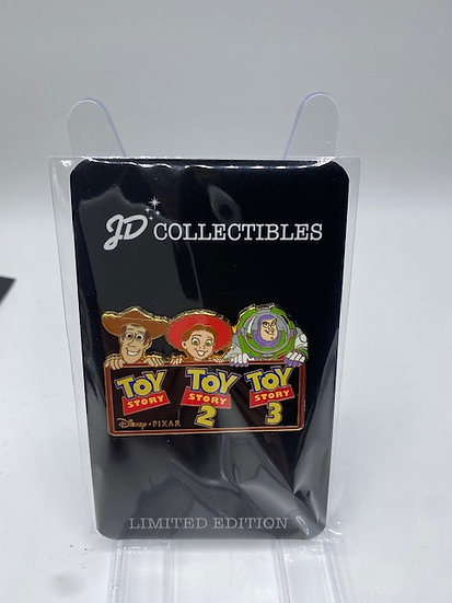 Toy Story 1 2 & 3 Woody Jessie & Buzz Lightyear LE 500 Pin DSF DSSH Pixar