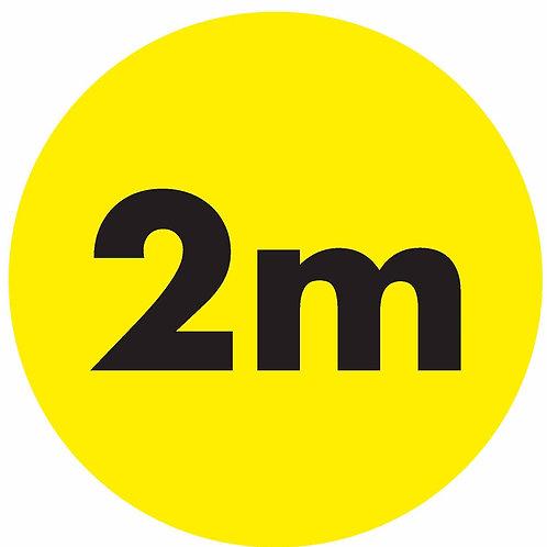 """2metre Social Distancing Floor """" Q """"markers"""