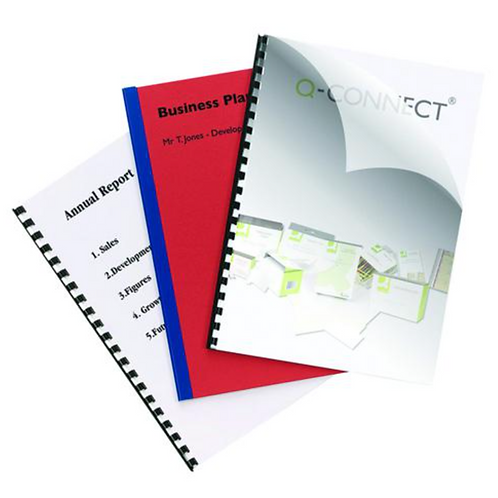 Q-Connect Clear A4 PVC Binding Covers 250 Micron (Pack of 100) KF24011