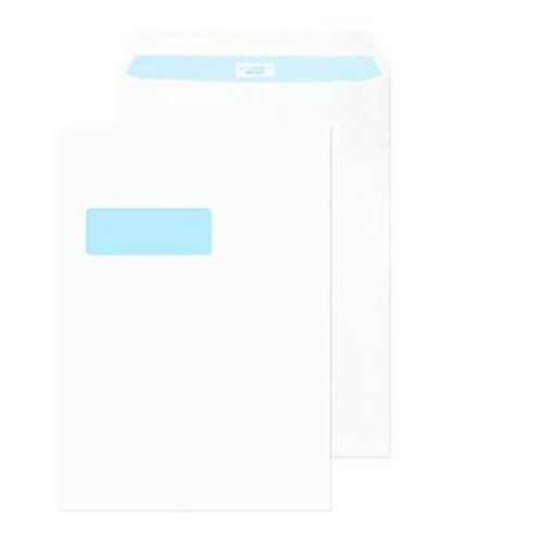 Q-Connect C4 Envelopes Window Peel and Seal - 100gsm White (Pack of 250) KF03292