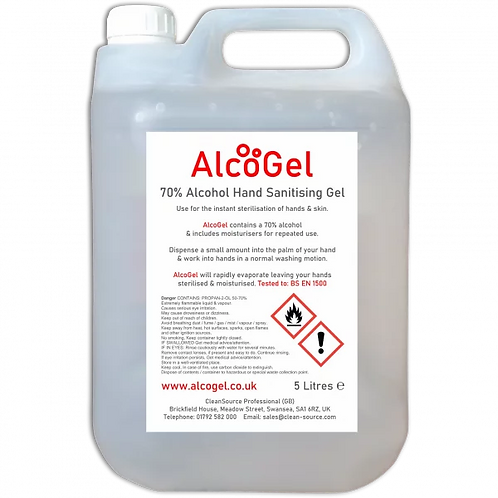 5 Litres of Alcohol Gel Hand sanitiser