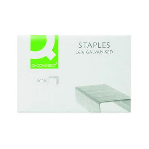 Q-Connect Staples 26/6mm (Pack of 5000) KF27001