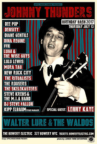 Lulu Lewis, Johnny Thunders, Lenny Kaye, The Waldos, The Bowery Electric