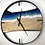 "Thumbnail: 34"" Spalted Maple Life's A Beach Live Edge Wood Clock"