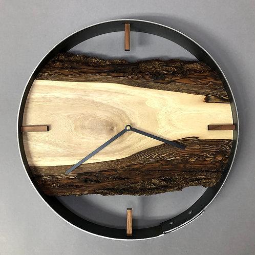 """14"""" Black Walnut Live Edge Wall Clock"""