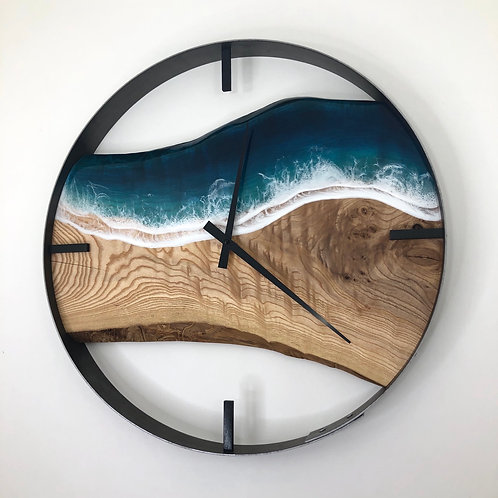 "21"" Life's a Beach Ash Wood Wall Clock"