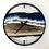 "Thumbnail: 18"" Life's a Beach Walnut Wood Wall Clock"