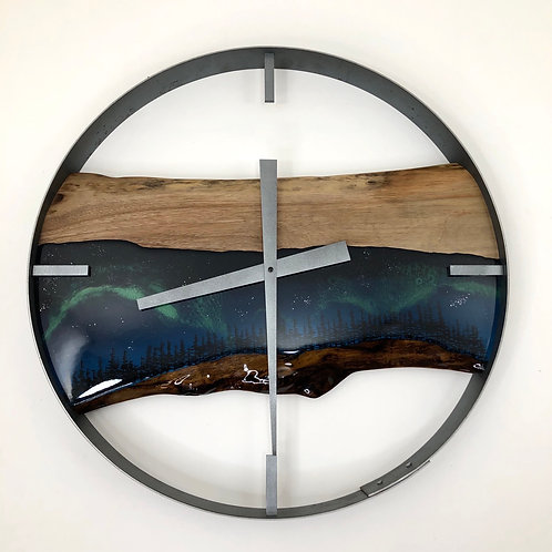 "21"" Northern Lights Limited Edition Wall Clock"