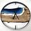 """Thumbnail: 30"""" Ash Life's A Beach Live Edge Wood Clock"""