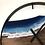 "Thumbnail: 34"" Black Walnut Life's A Beach Live Edge Wood Clock"