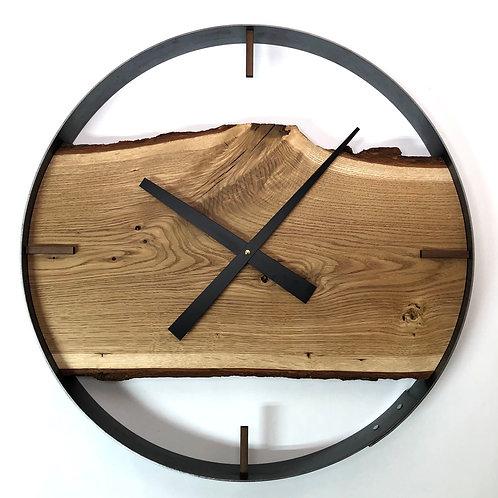 "21"" Oak Live Edge Wood Wall Clock"