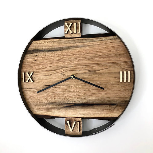 "14"" Butternut Live Edge Wood Wall Clock"