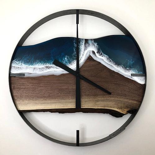 """25"""" Life's a Beach Walnut Wood Wall Clock"""