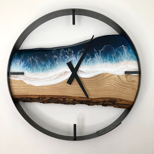 """RESERVED FOR AB // 18"""" Life's a Beach Sandy Ash Wood Wall Clock"""