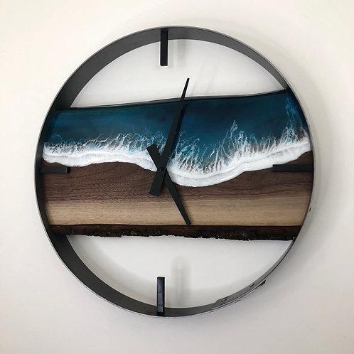 """18"""" Life's a Beach Walnut Wood Wall Clock"""