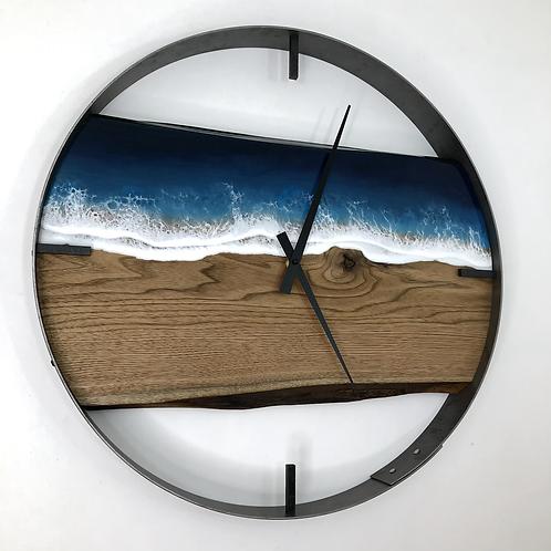 """21"""" Life's a Beach Butternut Wood Wall Clock"""