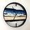 "Thumbnail: 14"" Life's a Beach Live Edge Walnut Wood Wall Clock"
