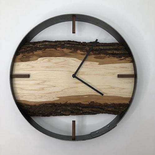 "14"" Maple Live Edge Wood Wall Clock"