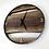 """Thumbnail: 18"""" Black Walnut Live Edge Wood Wall Clock"""