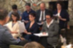 Joe Correll's play Monday Mike Cardella, Andrew Heffernan, Michael Bouson, Mari Weiss, Kathleen O'Grady, Cerris Morgan-Moyer, Laura Coyle