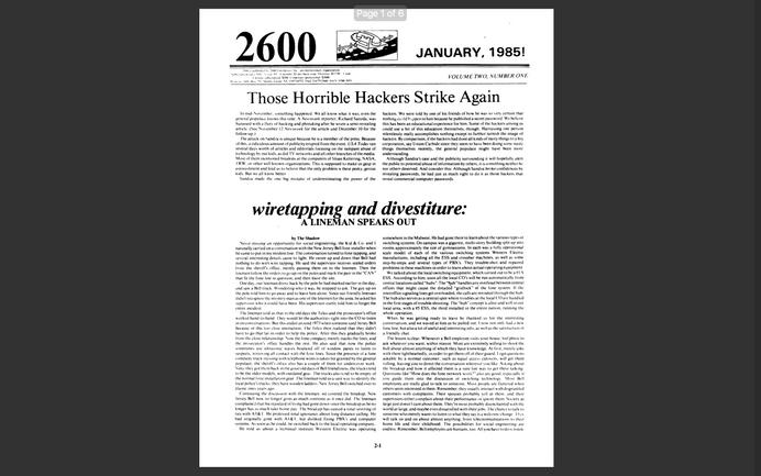 2600 - Ano 2 - Edição No 01 - Janeiro 1985