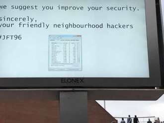 Hackers post public service message on Liverpool One's screen