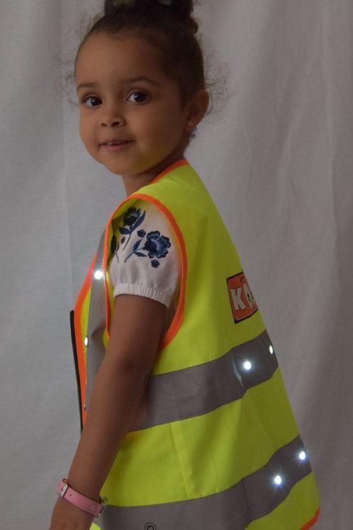 Child's LED rechargeble light up safety vest