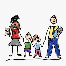 Doktorarbeit und Ref mit drei Kindern.jp