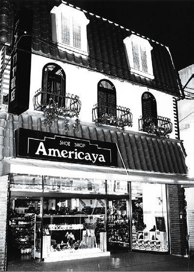 ▲会社の原点となった「アメリカヤ靴店」
