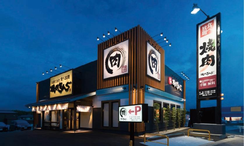 ▲大きな看板や店舗での集客は、郊外店の強み