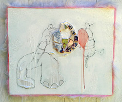 Monkey and Bee w/ Cracked World
