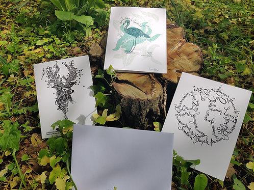 Package de 3 cartes avec enveloppes