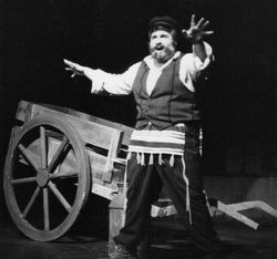 Actor Michael Walters as Tevye in Fiddler on the Roof