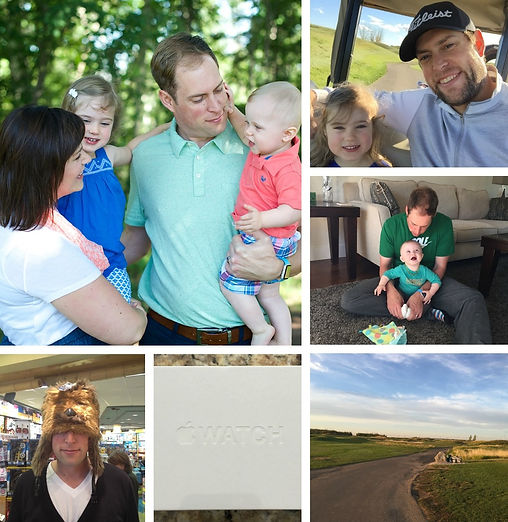 Family, Golf, Technology, Apple Watch, and Careers