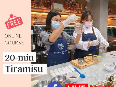 กิจกรรม สอนทำขนมทาง  Facebook Live : No Baked Tiramisu