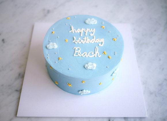 Blue sky minimal cake  22/3