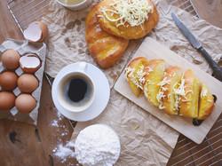Sugar butter bread