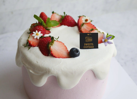 Minimal cake strawberry snow 1 ปอนด์