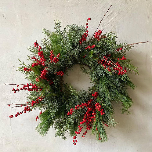 Wreath with berries