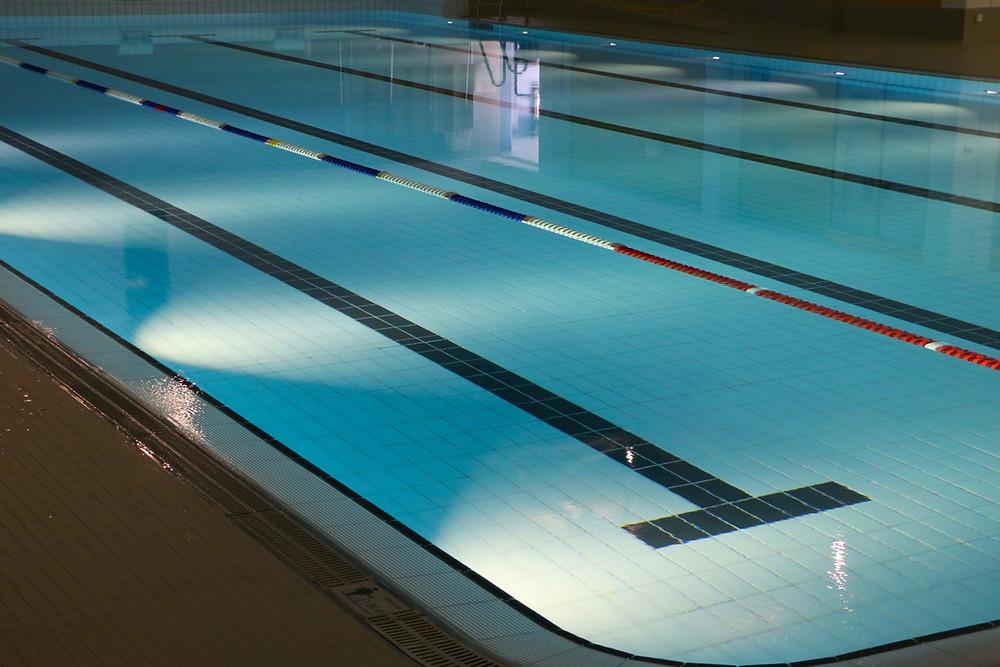 Swimming Pool Open Lap Lanes For Triathlon Training