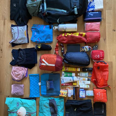 Meine Packliste für den Camino