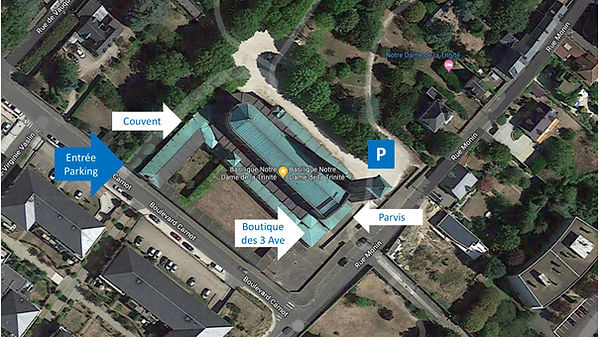Plan Basilique Notre-Dame de la Trinité
