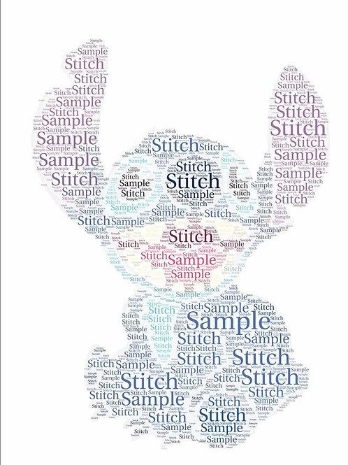 Framed Stitch Word Art