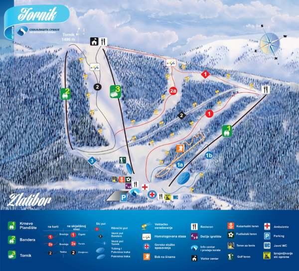Tornik-ski-center-map