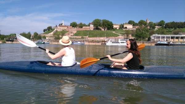 Kayaking-in-Belgrade