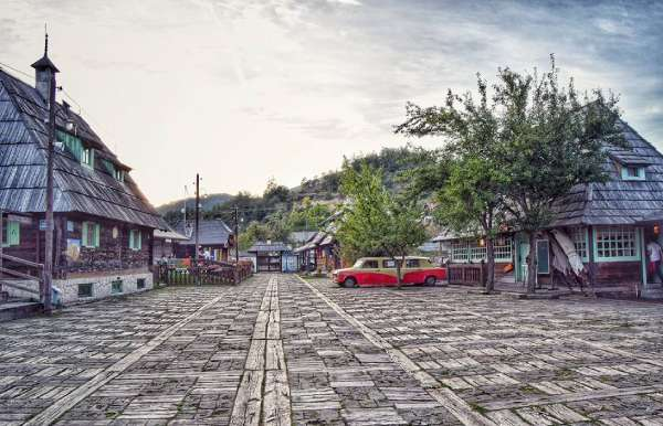 Wooden-town-in-Mokra-Gora